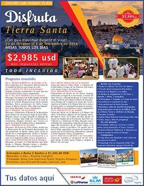 Disfruta Tierra Santa a tan solo 2985 usd